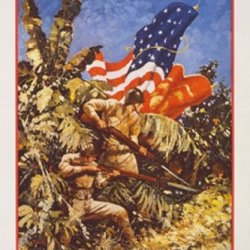 Let'S Go Get 'Em - Us Marines, By Capt. Guinness, 32X48 Canvas Giclée, Gallery Wrap, Office Size