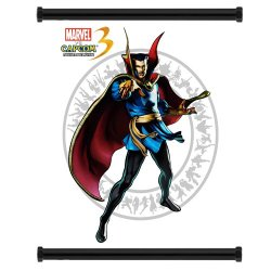 Marvel Vs Capcom 3 Dr Strange Game Fabric Wall Scroll Poster (32X38) Inches