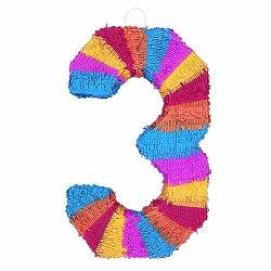 """Number 3 Pinata, 22"""" X 14"""""""