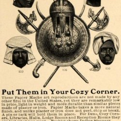 1901 Ad National Papier Mache Work Armor Oriental Heads - Original Print Ad