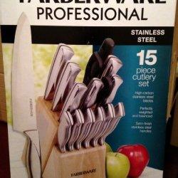 Farberware Professional 15-Piece Stainless Steel Cutlery Set