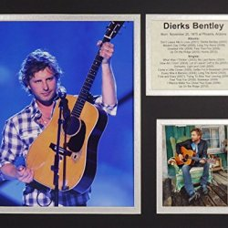 """Dierks Bentley 11"""" X 14"""" Unframed Matted Photo Collage By Legends Never Die, Inc."""