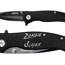 Zombie Slayer Txt Engraved Tac-Force Tf-420Bk Black Speedster Assisted Opening Folding Pocket Knife By Ndz Performance