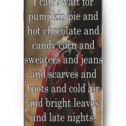 Ouo Snap-On Protective Hard Cover - I Can'T Wait For Pumpkin Pie And Hot Chocolate And Candy Corn And Sweaters And Jeans And Scarves And Boots And Cold Air And Bright Leaves And Late Nights - 4.7 Inch Apple Iphone 6 Case Inspirational And Motivational Lif