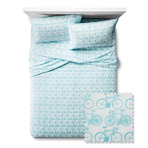 Bicycles-Twin-Sheet-Set-Blue