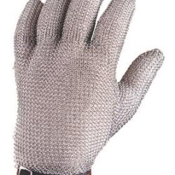 Metal Mesh Cut Resistant Safety Glove - 5 Finger