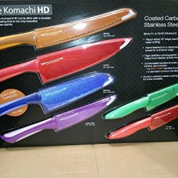 Pure Komachi Hd - 6 Coated Carbon Stainless Steel Knives W/ Matching Sheaths