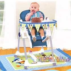 Baby Mickey Mouse 1St Birthday High Chair Decorating Disney Party Supplies