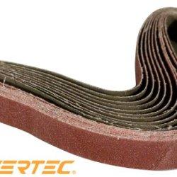 Powertec 111370 1-Inch X 30-Inch 400 Grit Aluminum Oxide Sanding Belt, 10-Pack