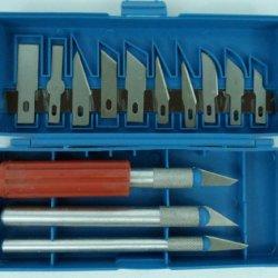 16Pc Hobby Razor Knife Set W/Blades W/Case (Exacto Blades Fits Knife) Stencil