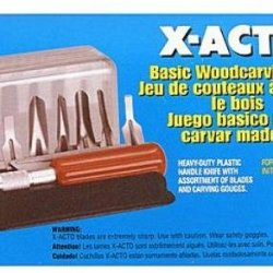 X-Acto Basic Woodcarving Set *** Product Description: X-Acto Basic Woodcarving Set- Description: 13 Piece Setfor Carving, Cutting, Initial Shaping And Outlining In Wood. Contains #5 Knife, 6 Gouges And 6 Assorted Blades. No. 5177. ***