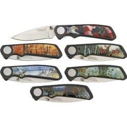 American Hunter Wildlife Fold Knife K2080 6Pc Set
