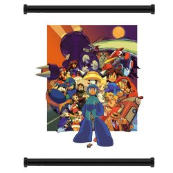 "Mega Man Game Fabric Wall Scroll Poster (16"" X 21"") Inches"