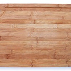 Culina Extra Large Thick Bamboo Cutting Board - 18X12 With Drip Groove
