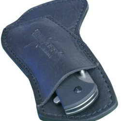 Cross Draw Custom Leather Knife Sheath - Black L.H. - Thunder Basin Knives
