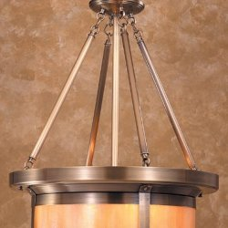 Arroyo Craftsman Bcmh-20-Ab Antique Brass Berkeley Craftsman / Mission Four Light Bowl Pendant From The Berkeley Collection