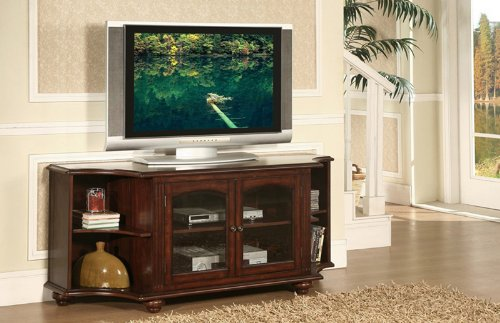 Image of Home Elegance 8059-T Piedmont 60in TV Stand in Cherry (8059-T)