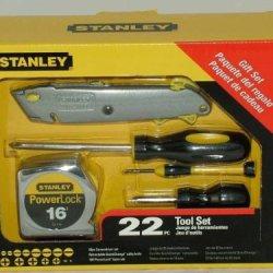 Stanley 22 Piece Tool Set (20 Screwdrivers; 1 Utility Knife; And 1 Powerlock Tape Measure)