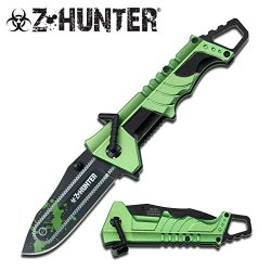 Z Hunter Green Zombie Knife Chainsaw Zomber Hunter Survival Tatical Camping Hunting Pocket Knife