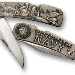Navy Lockback Knife - Large Nickel Antique