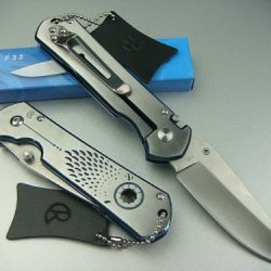 Blue Shadow Hunting Pocket Knife Folding Knives 440 57Hrc Blade All Steel Mercerized Handle