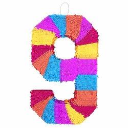 """Number 9 Pinata, 22"""" X 14"""""""