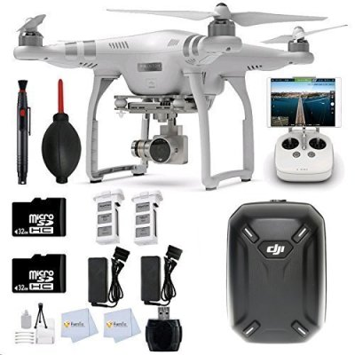 DJI-Phantom-3-Advanced-Quadcopter-Drone-with-1080p-HD-Video-Camera-2-32GB-Memory-Cards-Backpack-2-Batteries-Reader-Lens-Cleaning-Pen-more