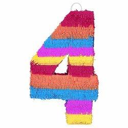 """Number 4 Pinata, 22"""" X 14"""""""