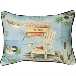 Manual Welcome To The Lake Knife Edge Pillow