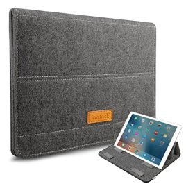 Inateck-iPad-Pro-129-Case-Cover-Sleeve-with-Stand-Function-133-Inch-MacBook-Air-Pro-Retina-Sleeve-Ultrabook-Netbook-Laptop-Bag-Dark-Gray