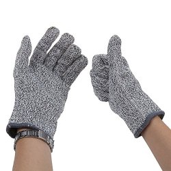 Dbpower Safety Cut Proof Stab Resistant Stainless Steel Metal Mesh Butcher Glove (One Pair)