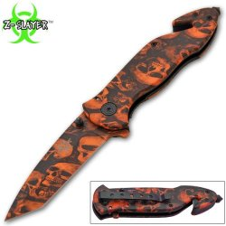Z-652-Sk-Or 8.5 Inch Trigger Assisted Zombie Slayer Bl4Gb Knife Pubvta9Ep - Orange Folding Knife Edge Sharp Steel Ytkbio Tikos567 Bgf 8.5 Inch Overall Length. Z-Slayer Logo Etched On Blade. Razor Sharp Mlvld German Surgical Steel Blade. Includes Easy To G