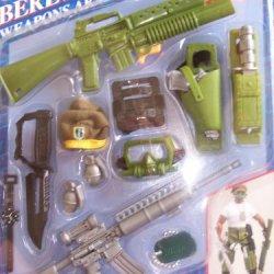 """1993 Hasbro Gi Joe Hall Of Fame """" Green Bert """" Weapons Arsenal"""