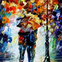 Fine Art Painting Superb Quality And Craftsmanship On Canvas Palette Knife Bonded By The Rain 24 X 36 In Unframed