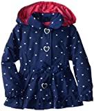 Pink Platinum Girls Ambers Allover Hearts with Bow Hooded Spring Jacket 4T Navy