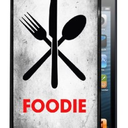 Foodie With Fork Knife Spoon - Black Iphone 5, 5S Dual Protective Durable Case