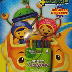 Bundle-Team Umizoomi 144Pg Coloring And Activity Book With Stickers. Plus One Pack Of Twist-Up Crayons