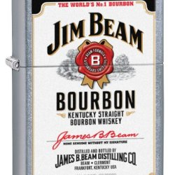 Zippo Jim Beam Pocket Lighter With Label