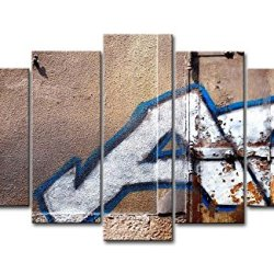 5 Panel Wall Art Painting City Graffiti Lettering Pictures Prints On Canvas City The Picture Decor Oil For Home Modern Decoration Print