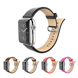 Apple-watch-bandsFullmosaTM-Litchi-Calf-leather-Strap-Replacement-band-with-Stainless-Metal-Clasp-for-Apple-Watch-All-Versions
