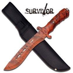 "Survivor ""Ranger"" 12"" Survival Knife - Orange Camo"