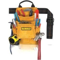 Dewalt Dg5333 10 Heavy Duty Suede Leather Pocket Carpenter'S Nail & Tool Bag