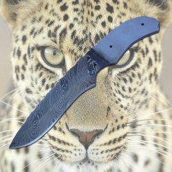 New Damascus Steel Blank Blade For Hunting Knife.Over All Length 8.7 Inches.. 1201