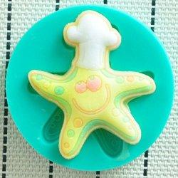 Silicone Running Starfish Pattern Fondant Cake Mold