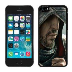 Diy Assassins Creed Desmond Miles Hood Face Knife Beard Fur Iphone 5C Black Phone Case