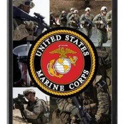 Lilichen Forever Collectible Usmc Marine Corps Case Cover For Iphone 5C(Laser Technology) -- Desgin By Lilichen