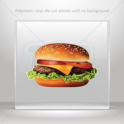 Decals Stickers Hamburger Decoration Waterproof Racing Vehicle Tablet Laptop (3 X 1.86 In)
