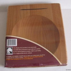 Alaska Ulu Alder Wood Chopping Bowlboard Top Slot