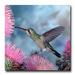 Pink Wall Art Painting Hummingbird In Pink Water Prints On Canvas The Picture Animal Pictures Oil For Home Modern Decoration Print Decor