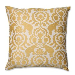"23"" Babar Elegance Topaz Yellow Decorative Floor Pillow"